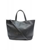 agnes b(アニエスベ)の古着「パンチングロゴ2WAYショルダーバッグ」|ブラック