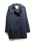 VICKY(ビッキー)の古着「ストレッチギャバハーフトレンチコート」 ネイビー