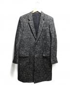 LITHIUM HOMME(リチウムオム・ファム)の古着「RAFANELLI TWEED NEW CLASSIC CH」|ブラック