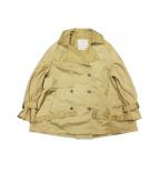 TELA(テラ)の古着「ショートトレンチコート」|ベージュ