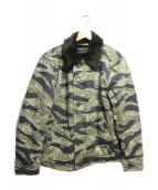 WACKO MARIA(ワコマリア)の古着「N-1 tigarcamo jacket」|グリーン