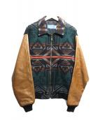PENDLETON(ペンドルトン)の古着「ネイティブ柄袖切替ジャケット」 ブラウン×グリーン