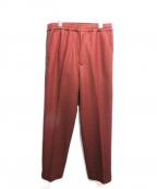 CLANE HOMME(クラネ オム)の古着「サイドストライプジャージーパンツ」|ボルドー