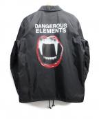 UNDER COVER(アンダーカバー)の古着「DANGEROUS ELEMENTS Coach Jacke」 ブラック