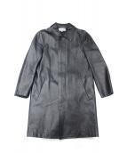 ROBE DE CHAMBRE COMME DES GARCONS(ローブドシャンブルコムデギャルソン)の古着「フェイクレザーステンカラーコート」 ブラック