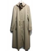 JUSGLITTY(ジャスグリッティ)の古着「フード付ロングブルゾン」|ベージュ