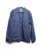 BLACK LABEL CRESTBRIDGE(ブラックレーベルクレストブリッジ)の古着「シャツジャケット」|ネイビー