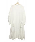MACPHEE(マカフィ)の古着「ベルト付ガウンコート」|ホワイト