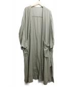 MACPHEE(マカフィー)の古着「ベルト付ガウンコート」|グリーン