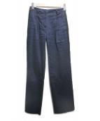 tela(テラ)の古着「リネンブレンドサイドラインパンツ」