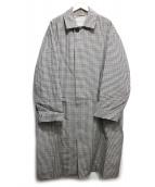 MACKINTOSH PHILOSOPHY(マッキントッシュフィロソフィー)の古着「ブリティッシュチェックオーバーコート」|ブラウン