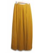 YAECA(ヤエカ)の古着「プリーツロングスカート」|キャメル