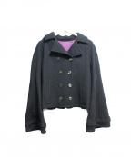 KEITA MARUYAMA(ケイタマルヤマ)の古着「メルトンPコート」 ブラック