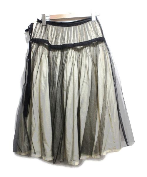 tricot COMME des GARCONS(トリコ コムデギャルソン)tricot COMME des GARCONS (トリコ コムデギャルソン) 切替チュールスカート アイボリー サイズ:Sの古着・服飾アイテム