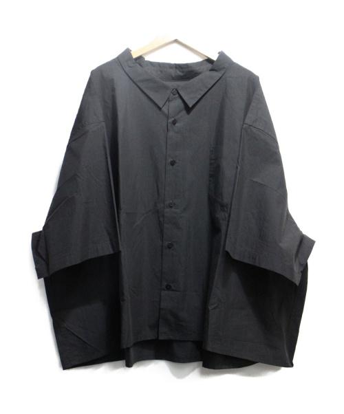 whowhat(フーワット)whowhat (フーワット) 5X SHIRT SHORT ブラック サイズ:F 定価25.000+TAXの古着・服飾アイテム