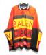 BALENCIAGA(バレンシアガ)の古着「Long Sleeve Logo Polo Shirt」|レッド×ブラック