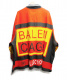 BALENCIAGA (バレンシアガ) Long Sleeve Logo Polo Shirt レッド×ブラック サイズ:XS 定価96.120円:29800円