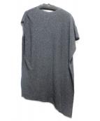 evam eva(エヴァムエヴァ)の古着「silk yarn poncho」|グレー