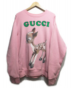 GUCCI(グッチ)の古着「Oversize Sweatshirt With Fawn」 ピンク