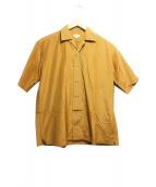 scye(サイ)の古着「シルクコットンポプリンオープンカラーシャツ」|シナモン