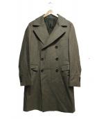 TAGLIATORE(タリアトーレ)の古着「ダイアゴナル6Bコート」 ブラウン