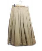 GRANDMA MAMA DAUGHTER(グランマ ママ ドーター)の古着「チノプリーツスカート」|ブラウン