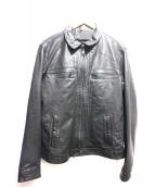 ALL SAINTS(オールセインツ)の古着「LARK LEATHER JACKET」|ブラック