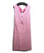 GRACE CONTINENTAL(グレースコンチネンタル)の古着「ツイードジャンパースカート」 ピンク×ホワイト