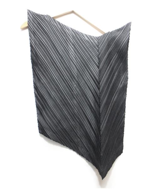 ISSEY MIYAKE(イッセイミヤケ)ISSEY MIYAKE (イッセイミヤケ) プリーツ変形ブラウス ブラック サイズ:Mの古着・服飾アイテム