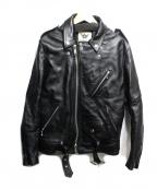 666(トリプルシックス)の古着「ダブルライダースジャケット」|ブラック