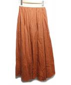 ONEIL OF DUBLIN(オニール オブ ダブリン)の古着「リネンマキシスカート」 オレンジ