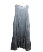 Veritecoeur(ヴェリテクール)の古着「フリルインナーロングワンピース」 ブラック