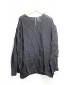 Veritecoeur(ヴェリテクール)の古着「リネンワッシャープルオーバー」|ブラック