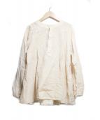 Veritecoeur(ヴェリテクール)の古着「天然染めヘンリーネックシャツ」|アイボリー