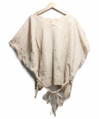 Veritecoeur(ヴェリテクール)の古着「ドローコードドロップシャツ」|ベージュ