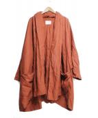FLIPTS&DOBBELS(フィリップスダブルス)の古着「リネントッパーコート」 テラコッタ