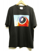 Calvin Klein Jeans(カルバンクラインジーンズ)の古着「グラフィックプリントtシャツ」|ブラック