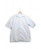 scye(サイ)の古着「タンボマチャイポプリンオープンカラーシャツ」|スカイブルー