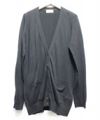 MARGARET HOWELL(マーガレットハウエル)の古着「Vネックカーディガン」|ブラック
