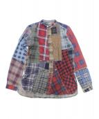 Rebuild by Needles(リビルド バイ ニードルズ)の古着「リメイクネルパッチワークシャツ」|レッド