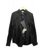 COMME des GARCONS(コムデギャルソン)の古着「デニムドッキングシャツ」|ブラック