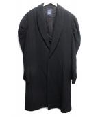 LIMI feu(リミフゥ)の古着「ギャザーアームパワーショルダーコート」|ブラック