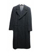 ARMANI COLLEZIONI(アルマーニコレツォーニ)の古着「ダブルオーバーコート」|ブラック