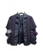 COMME des GARCONS(コムデギャルソン)の古着「デザインスリーブジャケット」|ネイビー