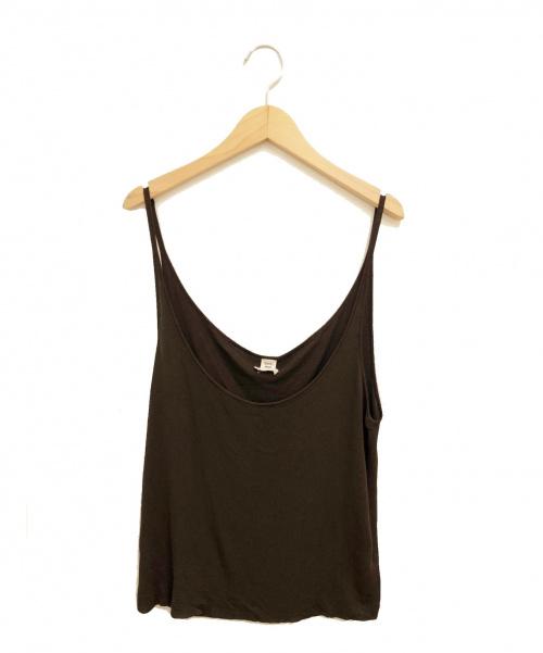 HERMES(エルメス)HERMES (エルメス) キャミソールニット ブラウン サイズ:LAの古着・服飾アイテム