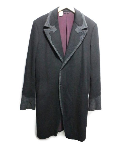 N.HOOLYWOOD(エヌハリウッド)N.HOOLYWOOD (エヌハリウッド) 切替チェスターコート ブラック サイズ:M 秋9の古着・服飾アイテム