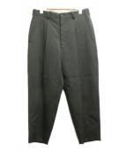 COMME des GARCONS(コムデギャルソン)の古着「タックテーパードパンツ」|ブラック