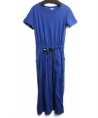 BLUE LABEL CRESTBRIDGE(ブルーレーベルクレストブリッジ)の古着「カットソーワンピース」|ネイビー