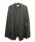 BED J.W. FORD(ベッドフォード)の古着「Stand Collar Stripe Jacket」|ブラック