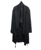 JULIUS(ユリウス)の古着「Draping Shirt Coat」|ブラック